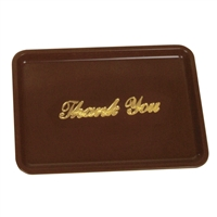 "Thunder Group Guest Check Tray With ""Thank You"" Message, Brown Colored, Plastic, (PLPT046BR)"