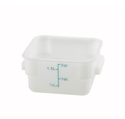Square Food Storage Container - 2 Qt., White