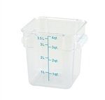 Square Food Storage Container - 4 Qt., Clear