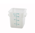 Square Food Storage Container - 4 Qt., White