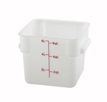 Square Food Storage Container - 6 Qt., White