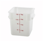 Square Food Storage Container - 8 Qt., White