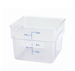 Square Food Storage Container - 12 Qt., Clear