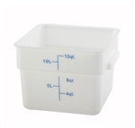 Square Food Storage Container - 12 Qt., White