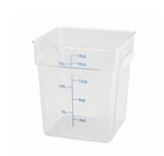Square Food Storage Container - 18 Qt., Clear