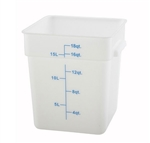 Square Food Storage Container - 18 Qt., White