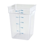 Square Food Storage Container - 22 Qt., Clear