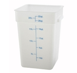 Square Food Storage Container - 22 Qt., White