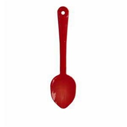 "Polycarbonate Solid Serving Spoon 11"" - Red"