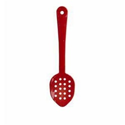 "Polycarbonate Perforated Serving Spoon 11"" - Red"