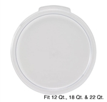 Winco Cover - Fits 12/18/22 Qt. Round White Container