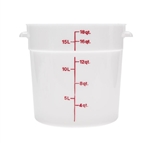 Winco Round Food Storage Container - 18 Qt., White