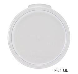 Winco Cover - Fits 1 Qt. Round White Container