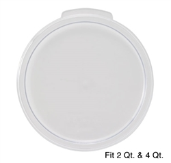 Winco Cover - Fits 2 & 4 Qt. Round White Container