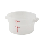 Winco Round Food Storage Container - 2 Qt., White