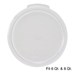 Winco Cover - Fits 6 & 8 Qt. Round White Container