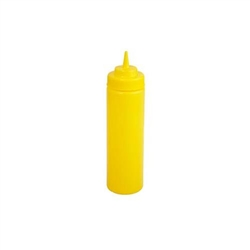 Winco Wide Mouth Squeeze Bottle - Yellow - 12 Oz., 6 Pc/Pack, (PSW-12Y)