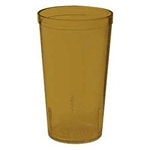 Winco Amber Pebbled Tumbler - 12 Oz., (PTP-12A)