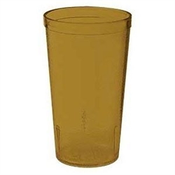 Winco Amber Pebbled Tumbler - 16 Oz., (PTP-16A)