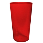 Winco Red Pebbled Tumbler - 16 Oz., (PTP-16R)
