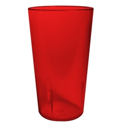 Winco Red Pebbled Tumbler - 20 Oz., (PTP-20R)