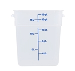 Square Food Storage Container - 18 Qt., Translucent