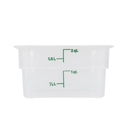 Square Food Storage Container - 2 Qt., Translucent