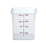 Square Food Storage Container - 8 Qt., Translucent