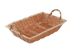 "Winco Poly Woven Basket With Handle - Oblong - 12"" X 8"" X 3"", (PWBN-12B)"