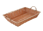"Winco Poly Woven Basket With Handle - Oblong - 16"" X 11"" X 3"", (PWBN-16B)"