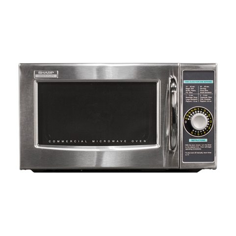 1000W Medium-Duty Microwave Oven - Dial Timer Control (Sharp R-21LCFS)