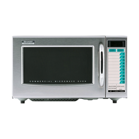 1000W Medium-Duty Microwave Oven - 20 Memory Digital Key Pad Control (Sharp R-21LTF)