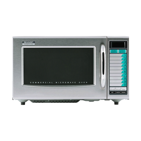 1000W Medium-Duty Microwave Oven - 10 Memory Digital Key Pad Control (Sharp R-21LVF)