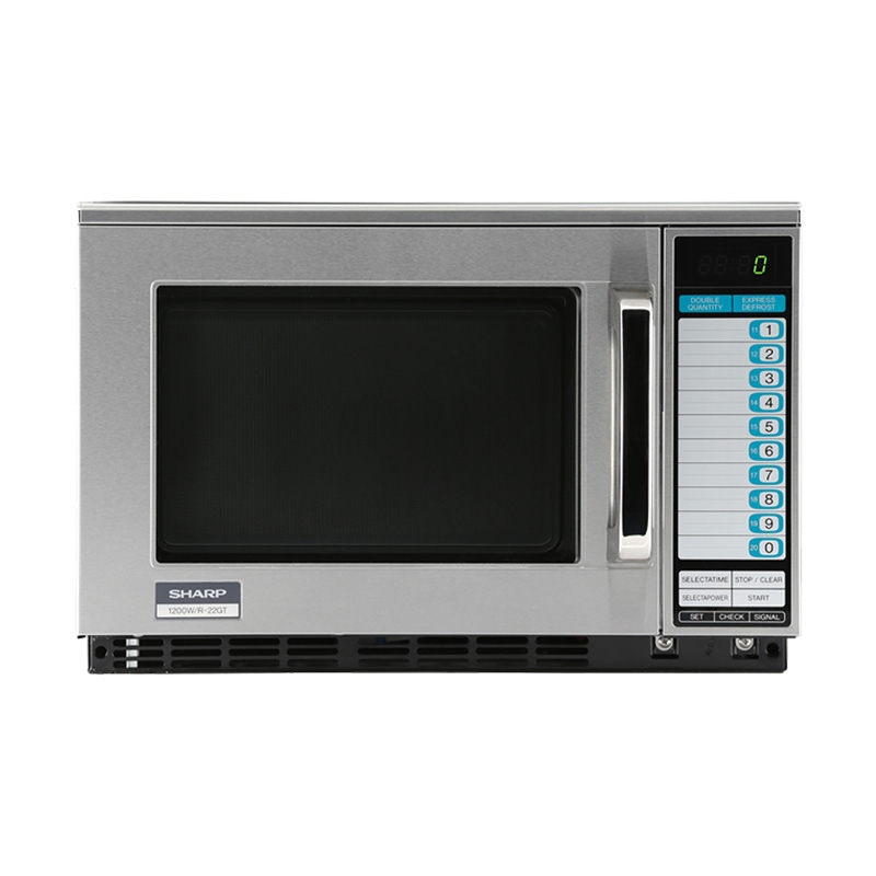 1200w Heavy Duty Microwave Oven 20 Memory Digital Key Pad Control Sharp R 22gtf