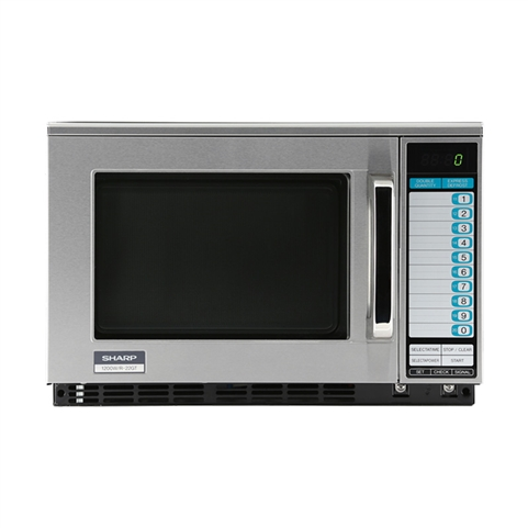 1200W Heavy-Duty Microwave Oven - 20 Memory Digital Key Pad Control (Sharp R-22GTF)