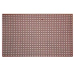 "Rubber Floor Mat - Grease Resistant - 3' x 5' x 3/4"" - Red, (RBMH-35R)"
