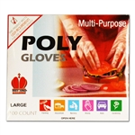 Royal Industries Clear Poly Disposable Glove - Large, (RDG 601 L)