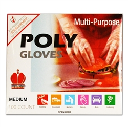 Royal Industries Clear Poly Disposable Glove - Medium, (RDG 601 M)