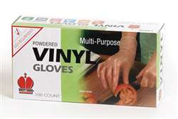 Royal Industries Powdered Vinyl Disposable Gloves - Large, (RDG 701 L)