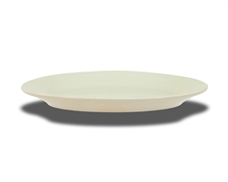 "Platter, 13-1/2"" x 9"", oval, wide rim, ceramic, Dover White"