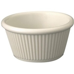Winco Ramekin - Fluted - Bone Color - 2 Oz., (RFM 2B)