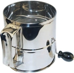 Winco Rotary Sifter - Stainless Steel - 8 Cup, (RFS-8)