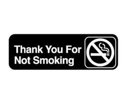"Royal Industries ""Thank You For Not Smoking"" Sign, (ROY 394521)"