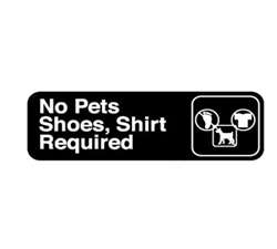 "Royal Industries ""No Pets"" Sign, (ROY 394523)"