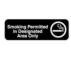 "Royal Industries ""Smoking Permitted"" Sign, (ROY 394534)"