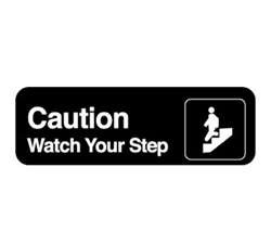 "Royal Industries ""Caution Watch Step"" Sign, (ROY 394544)"