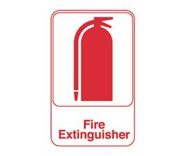 "Royal Industries ""Fire Extinguisher"" Sign, (ROY 695618)"