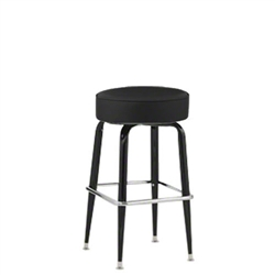 Royal Industries ROY-7723-B Black Framed Swivel Bar Stool
