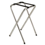 "Tray Stand Chrome Platted Tube Steel - 32"" High (ROY 774)"