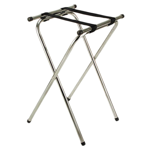 "Deluxe Tray Stand Chrome Platted Tube Steel - 32"" High (ROY 775)"